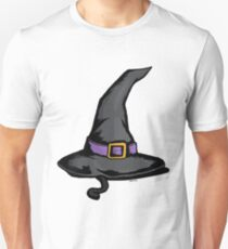 Cute Witches Hat Cat Halloween T-Shirt