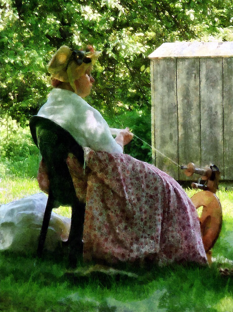 Woman Spinning Wool by Susan Savad