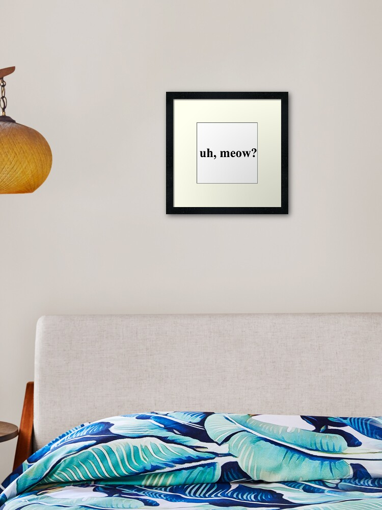 Uh Meow Sonic Meme Hedgehog Times New Roman Framed Art Print By Tingles22 Redbubble