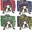 Boston Terrier Boston Sports Beanies by MudgeStudios