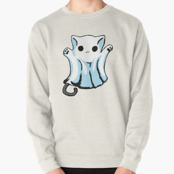 Cute Boo Ghost Cat Halloween Pullover Sweatshirt
