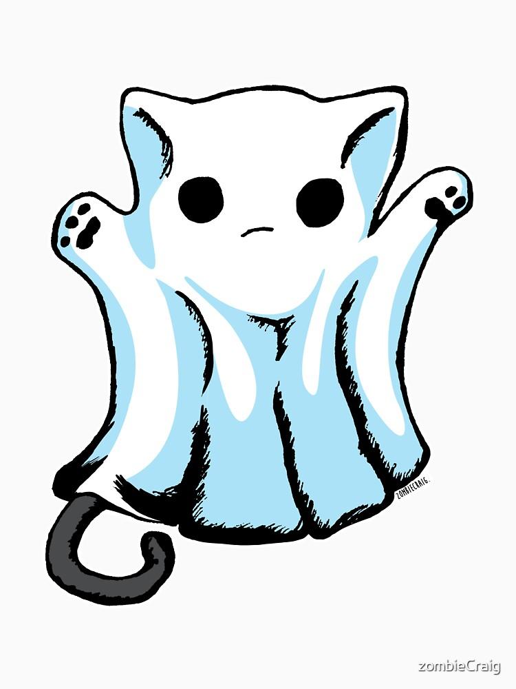 Cute Boo Ghost Cat Halloween by zombieCraig