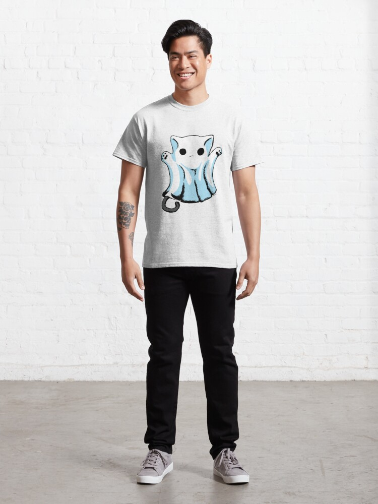 Alternate view of Cute Boo Ghost Cat Halloween Classic T-Shirt