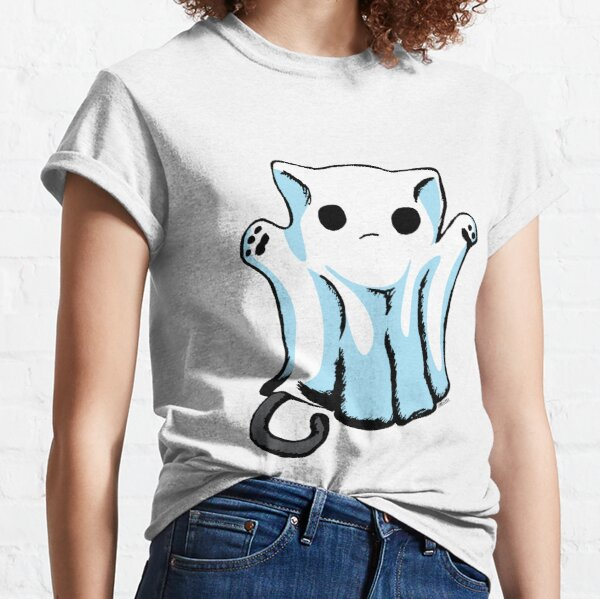 Cute Boo Ghost Cat Halloween Classic T-Shirt