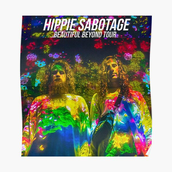 cool hippie sabotage colourfull Poster