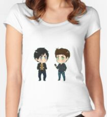 Stefan feelin' sensitive?  Women's Fitted Scoop T-Shirt