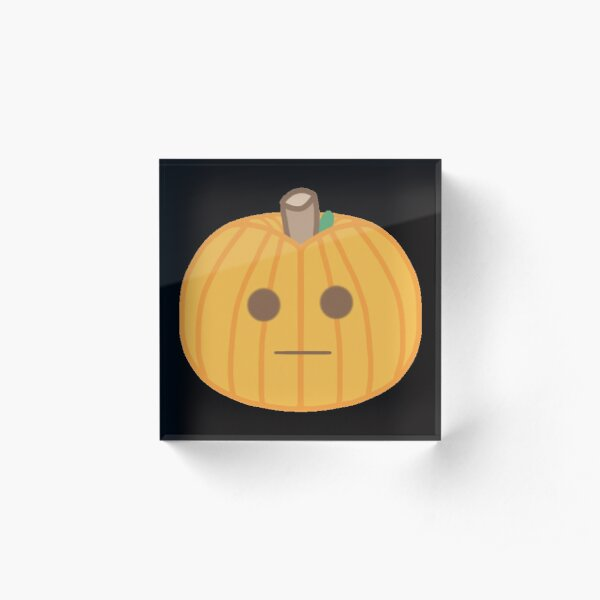 Placid Pumpkin Acrylic Block