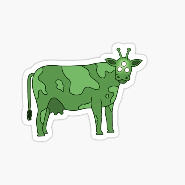 Alien Cow  Sticker
