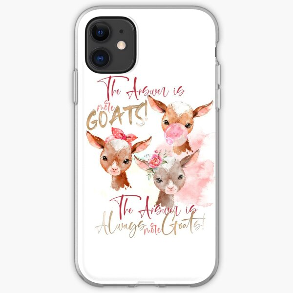 The Answer Is More Goats Watercolor  iPhone Soft Case