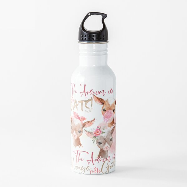 The Answer Is More Goats Watercolor  Water Bottle