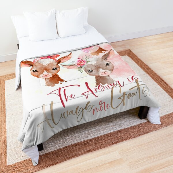 The Answer Is More Goats Watercolor  Comforter