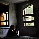"""""""Contentment"""" Self Portrait, Abandoned House, CT by kailani carlson"""