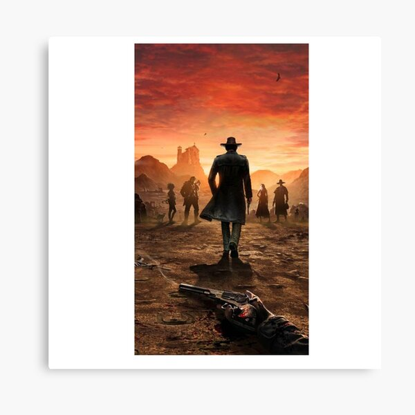 Western red dead Canvas Print