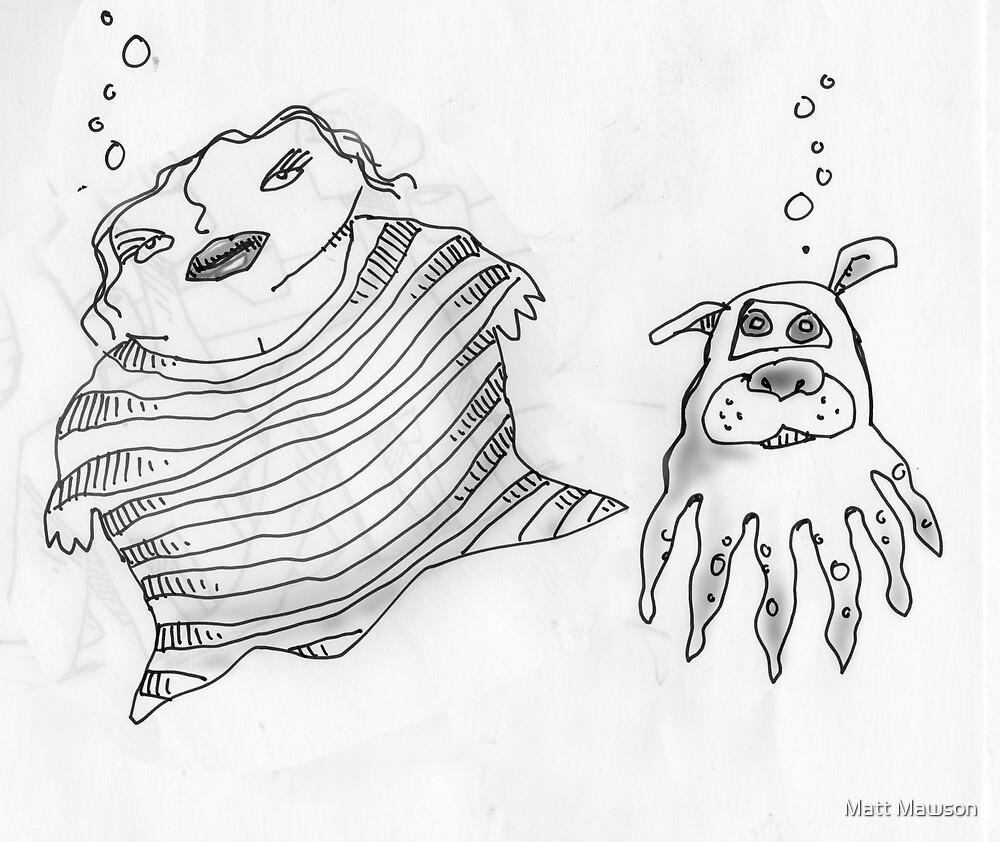 mermaid and merdog by Matt Mawson