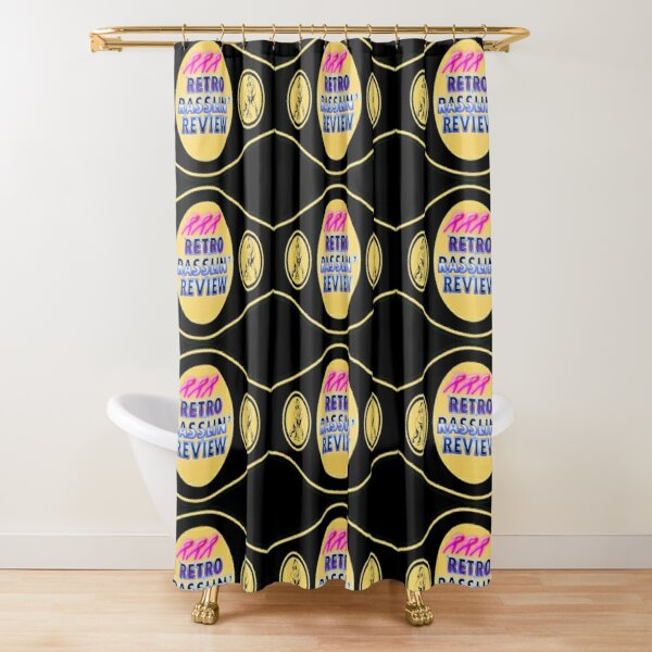 Retro Rasslin' Review Belt Logo Shower Curtain