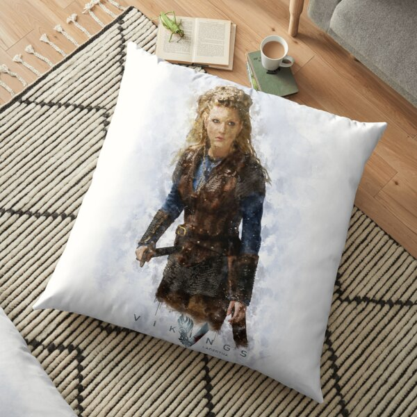 Lagertha watercolor Floor Pillow