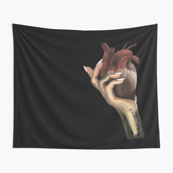 Heart in hand Tapestry