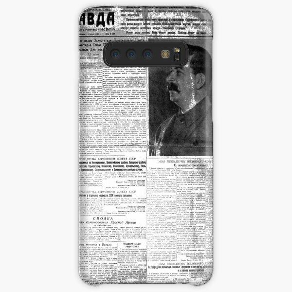 The front page of Pravda on 23 June 1941, including, a printed, radio speech, by Molotov, Pravda, Правда, pravdə, Truth - Russian Broadsheet Newspaper Samsung Galaxy Snap Case