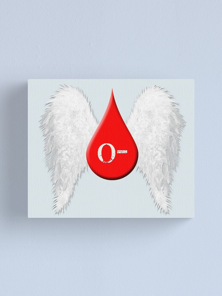 Alternate view of Blood Type O Negative - Angel Wings Canvas Print