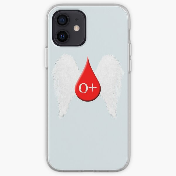 Blood Type O Positive - Angel Wings iPhone Soft Case
