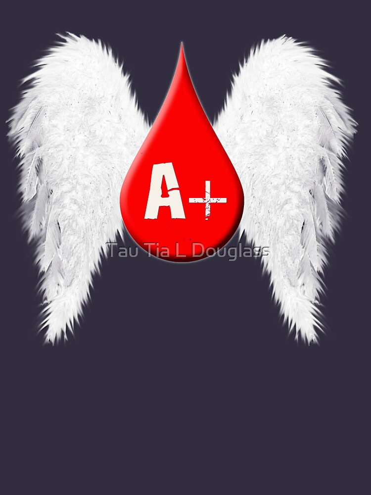 Blood Type A Positive - Angel Wings by PurplePeacock