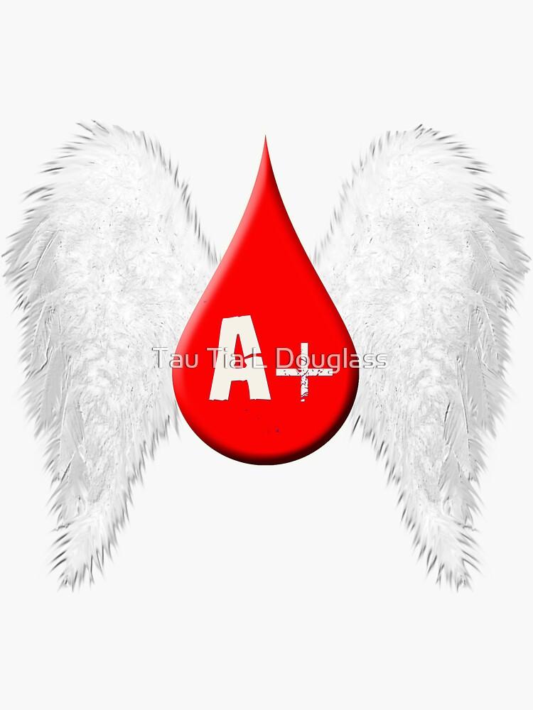 Blood Type A Positive - Angel Wings by PurplePeacock