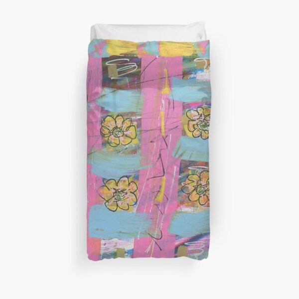 Windowsill Flowers Duvet Cover