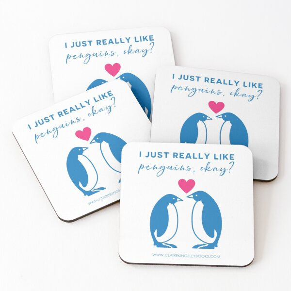 I just really like penguins, okay? Coasters (Set of 4)