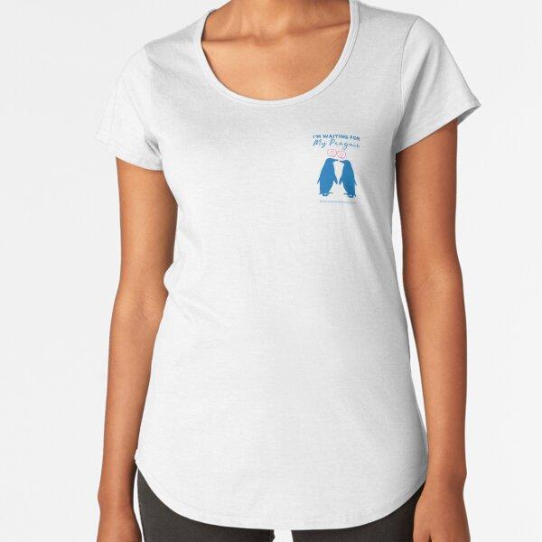 I'm Waiting For My Penguin Premium Scoop T-Shirt