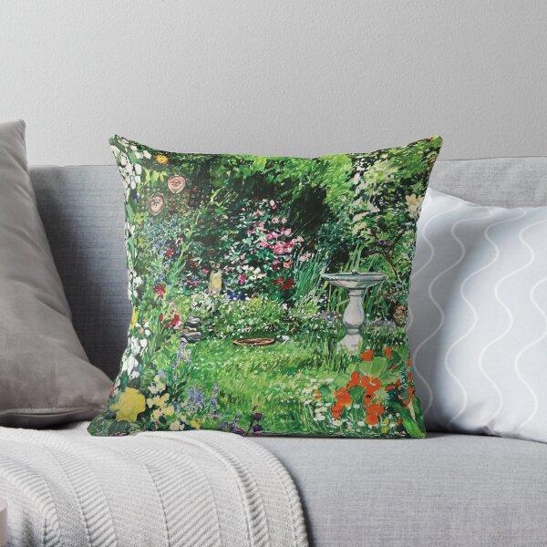 Annie's garden by Jo Reitze Throw Pillow
