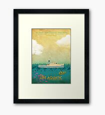 The Life Aquatic Film Poster Framed Print