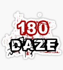 180 DAZE - Chest_Black Sticker