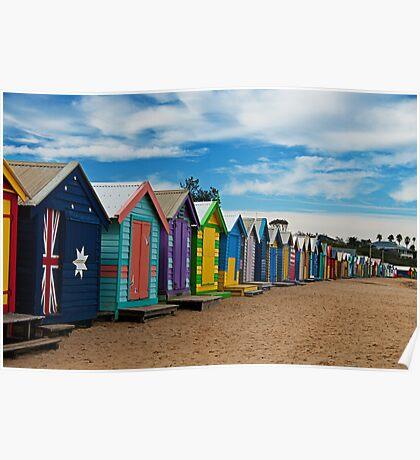BRIGHTon Beach Boxes - Melbourne Poster