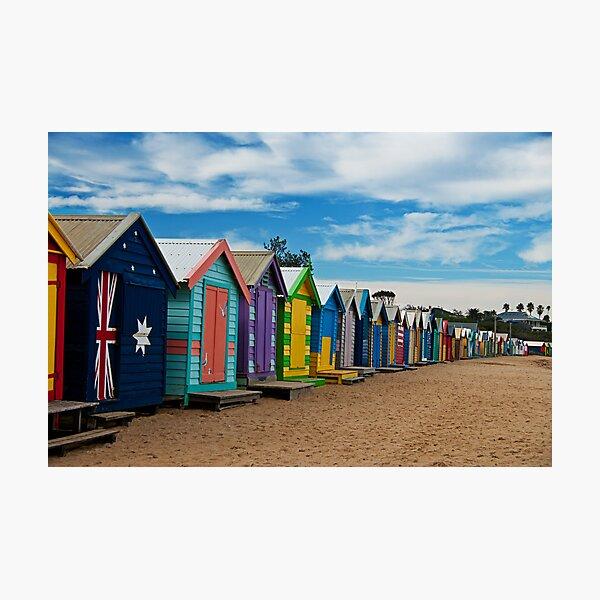 BRIGHTon Beach Boxes - Melbourne Photographic Print