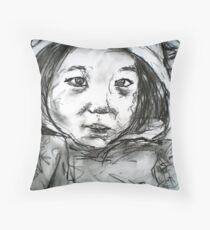 Child in an Eeyore Suit Throw Pillow