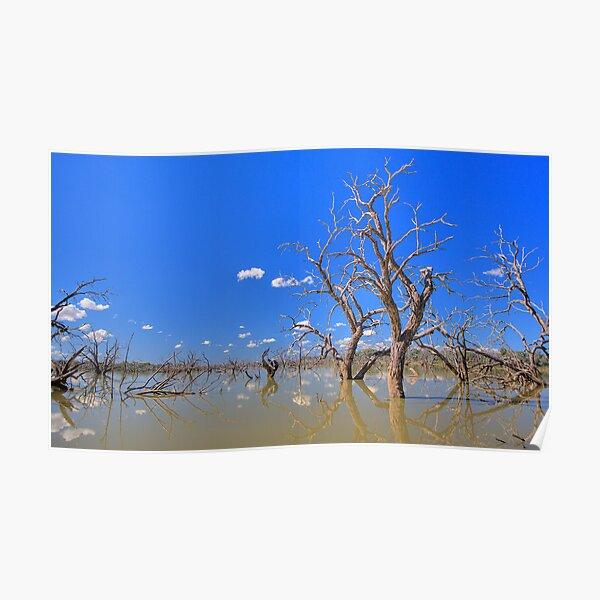 Eight Mile Lagoon, Bourke Poster