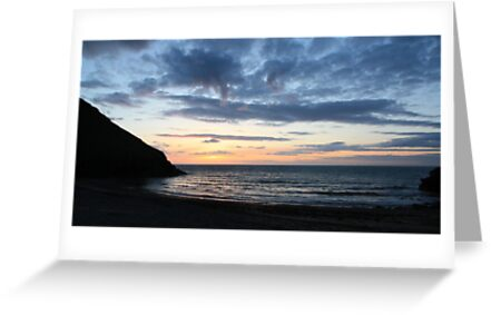 Wide Angle Cwmtydu Sunset by JenMetcalf