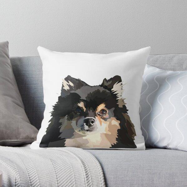 Pomeranian Pup Throw Pillow