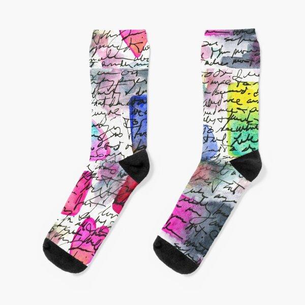Asemic Shapes Socks