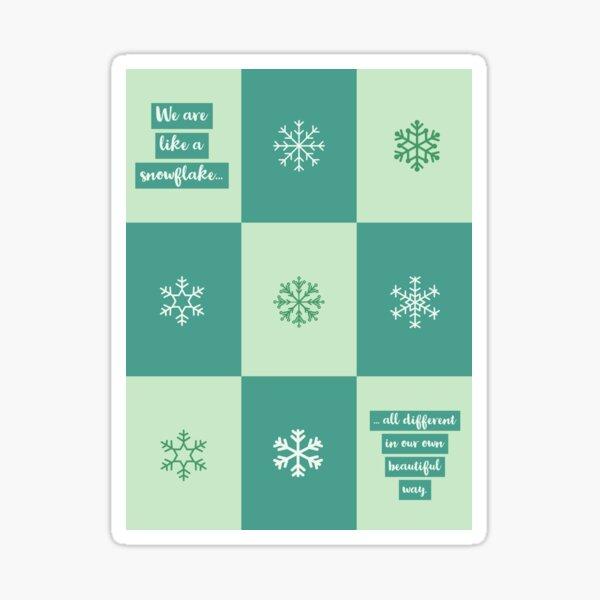 Unique Snowflakes Sticker
