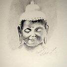 A Buddha for Drawing day  by Lynn Hughes