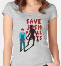 SAVE JOSH WASHINGTON! Women's Fitted Scoop T-Shirt