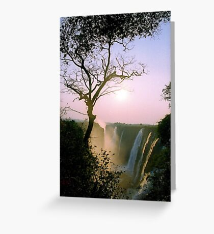 Sunset over Victoria Falls Greeting Card