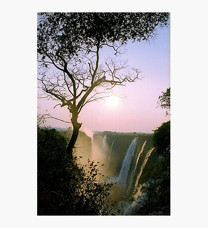 Sunset over Victoria Falls Photographic Print