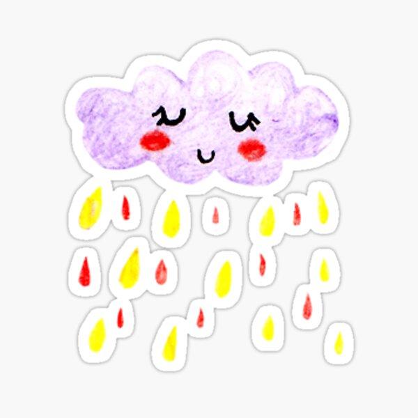 Happy Rain Cloud Sticker