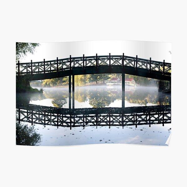 Lake Daylesford silhouette Poster