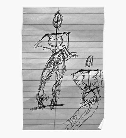 Random Sketch 06...Drawing Day Poster