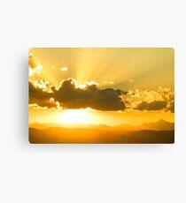 Gods Sunset Canvas Print