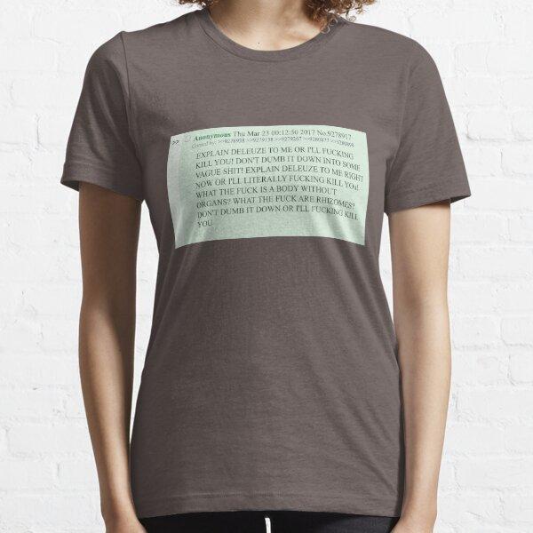 T-shirt Expliquer Deleuze Copypasta T-shirt essentiel