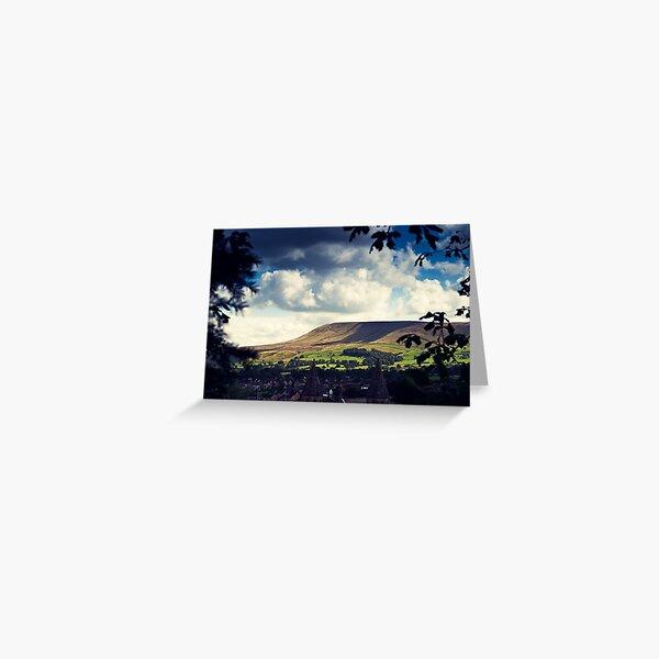 Pendle Hill, Lancashire Greeting Card
